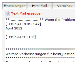 Text Mail erstelle