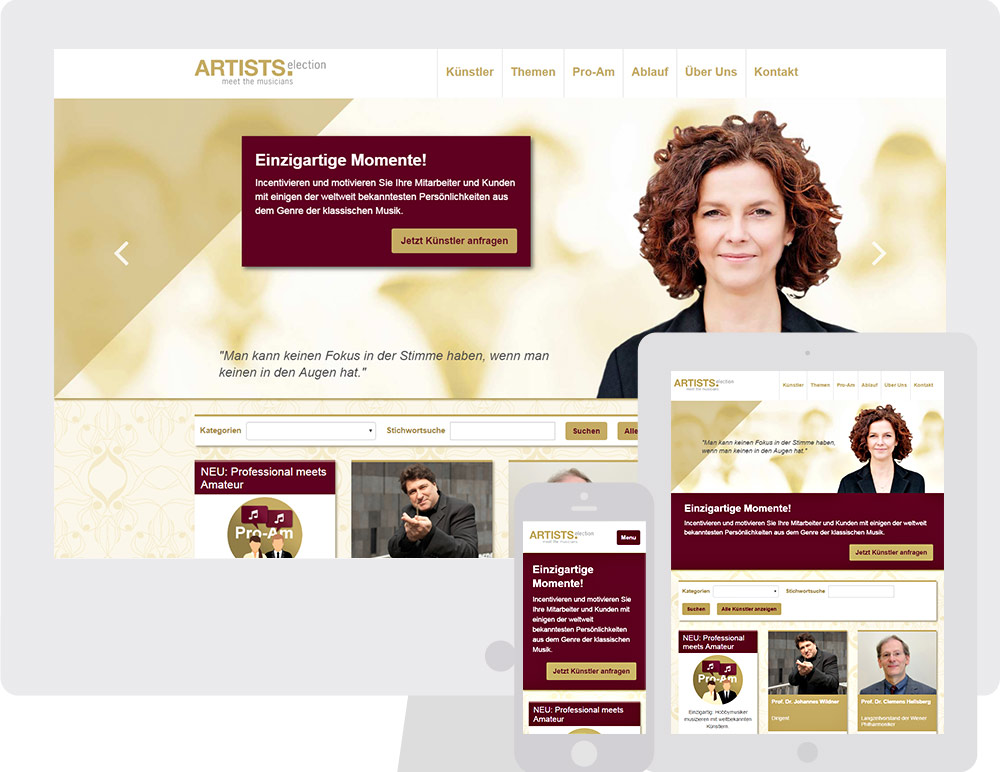 "Webauftritt von ""ARTISTS.Selection"" by bestHeads"
