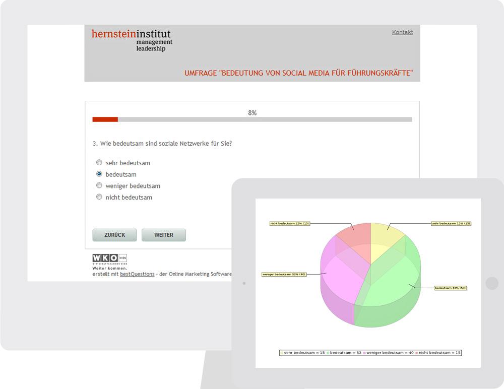 Umfrage Modul - bestHeads Online Marketing GmbH, Wien