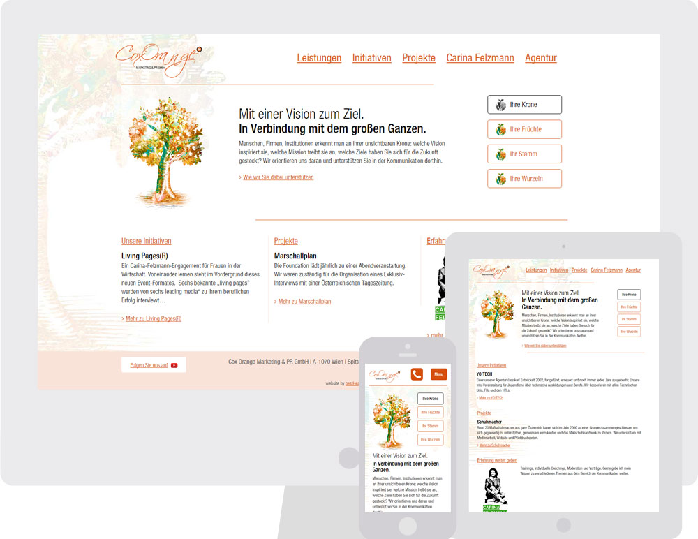 Cox-Orange - Responsive Website